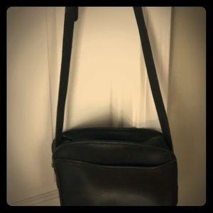 Vintage black Coach leather bag.